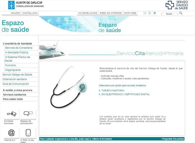 Pedir cita medico Galicia  Ourense