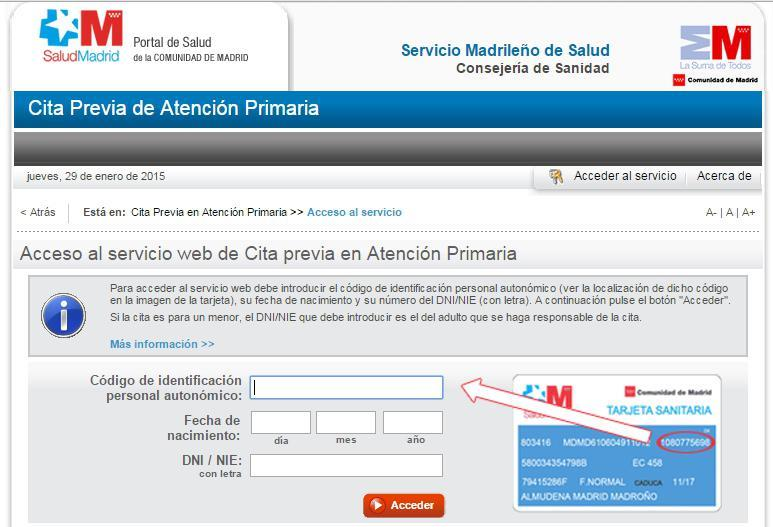 Cita previa médico Madrid  Madrid