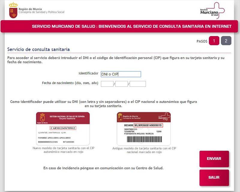 Servicio Murciano de Salud cita previa  Murcia