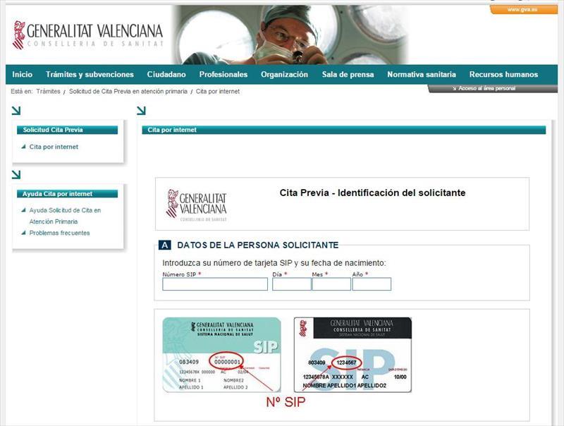 Pedir cita medico Comunitat Valenciana  Alicante